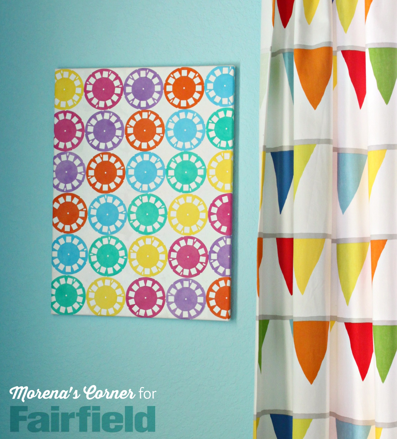Colorful Wall Art Made With Oly*Fun Fabric