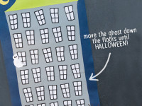 Halloween Countdown -free printable Follow the ghost as he countsdown to Halloween day!