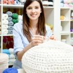 Crochet Pillow With Girl