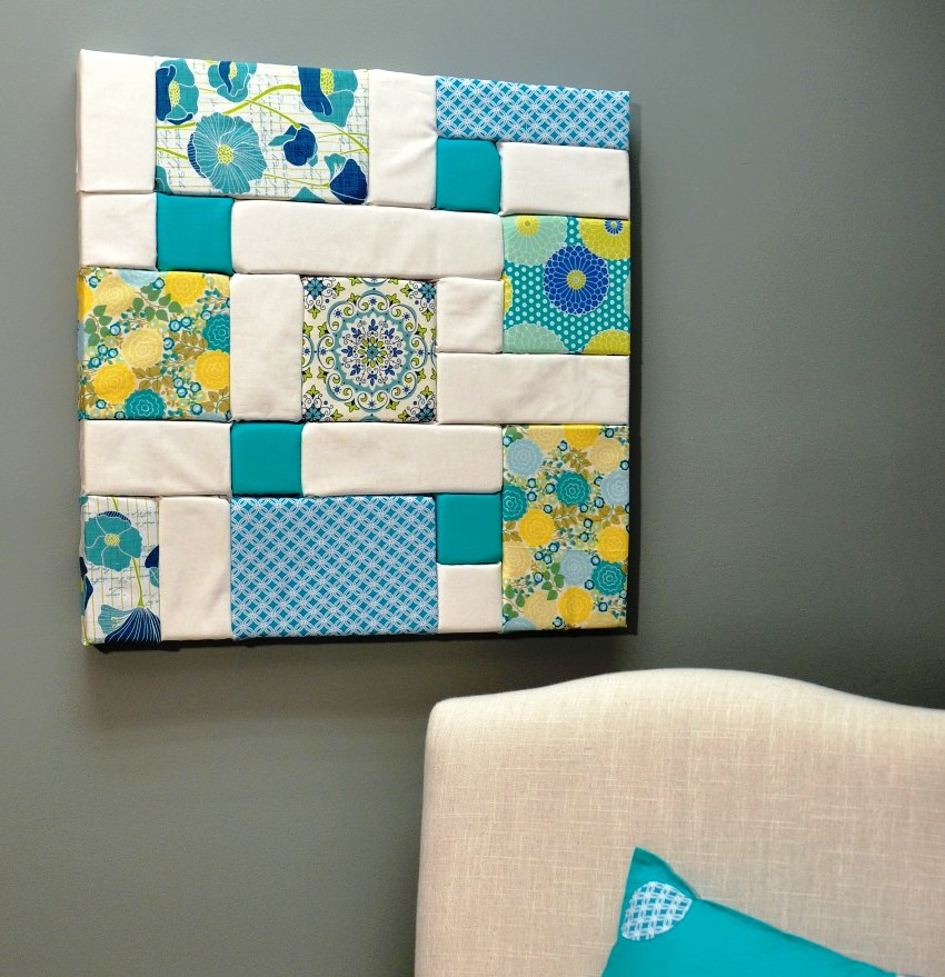 Colorful patchwork wall art fairfield world craft projects - Craft ideas for wall art ...