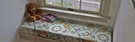 No Sew Window Seat Cushions