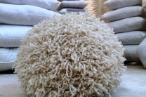 Shaggy Knit Pillow Ball
