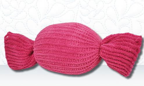 Knitted Candy Pillow Ball