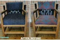 DIY Chair Foam and Fabric Update