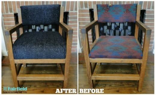 DIY Chair Foam and Fabric Update