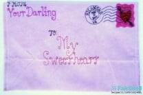 DIY Valentine Envelope Clutch Purse