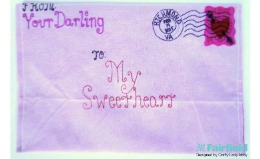DIY Valentine Envelope Clutch Purse