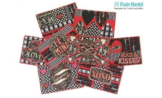 DIY Fabric Valentine Postcards