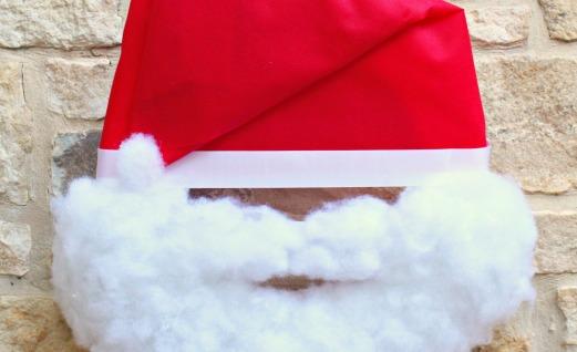 Make A Santa Wreath