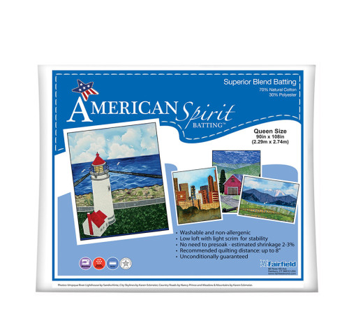 American Spirit Batting™ Superior Blend 90″ x 108″
