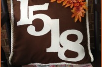 Fall Address Pillow