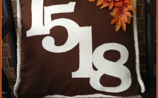 Fall Address Pillow