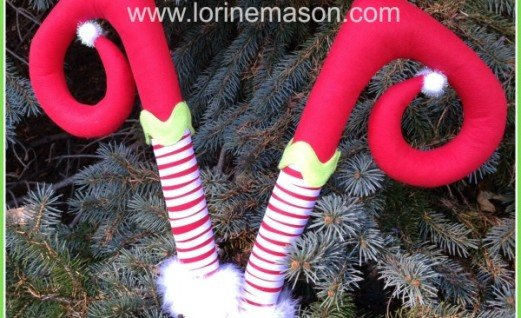Diving Elf Legs for Christmas Decor