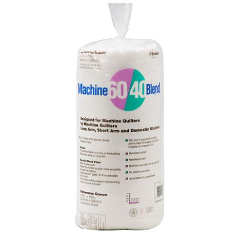 Machine 60/40® Blend Batting 100″ x 116″