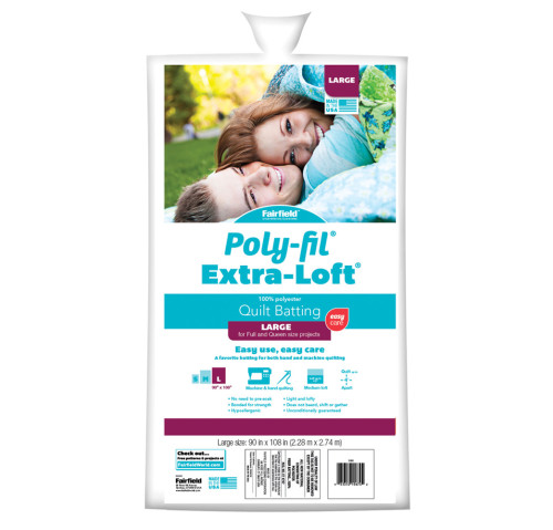 Poly-Fil Extra-Loft® Batting 90″ x 108″