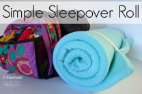 DIY Sleepover Roll