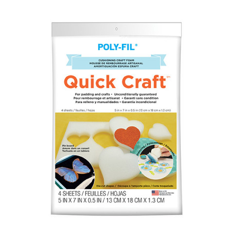 Quick Craft Foam – 5″ x 7″ x 1/2″ thick – 4pc