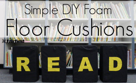 DIY Simple Foam READ Floor Cushions