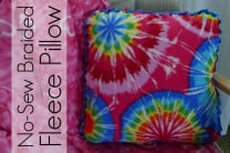No-Sew Braided-Edge Fleece Pillow