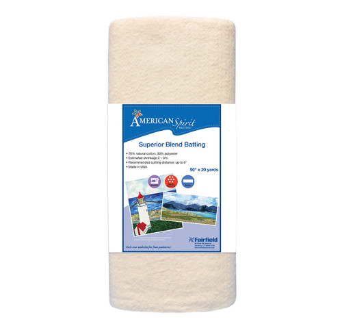 American Spirit Batting™ Superior Blend 90″ wide x 20 yard Roll
