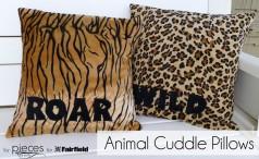 Animal Snuggle Pillows : WILD and ROAR Animal Cuddle Pillows
