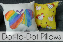 Dot-to Dot Pillow Tutorial