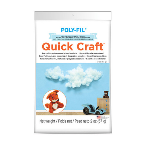 Quick Craft Poly-Fil® Fiber Fill – 2 ounce Bag