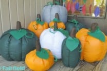 DIY Stuffed Fabric Pumpkins