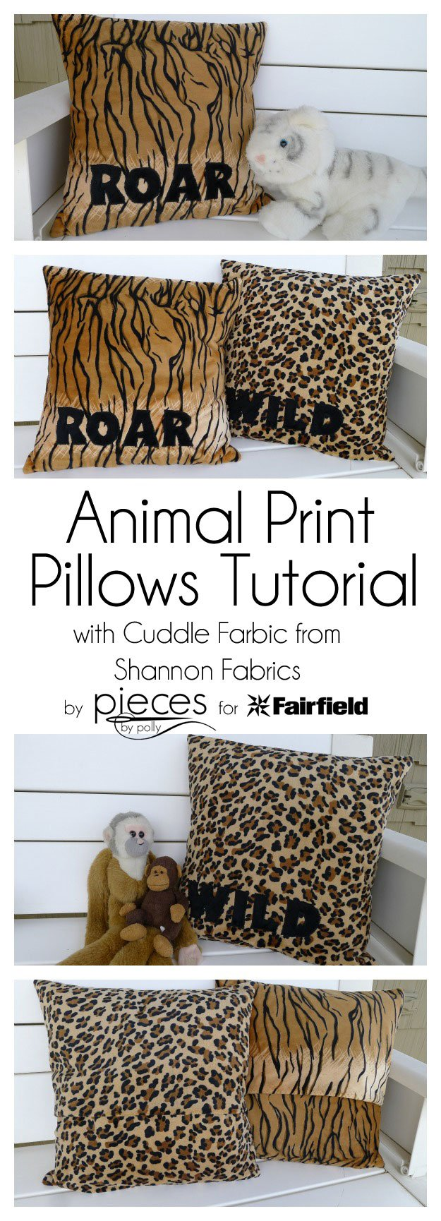 WILD Animal Cuddle Pillows Perfect for Summer