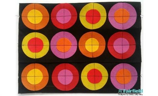 DIY Pop Art Circles Clutch Purse