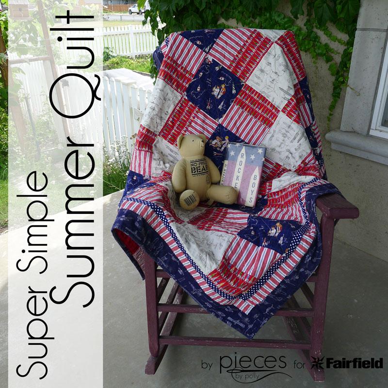 Super Simple Summer Throw Quilt Free Tutorial