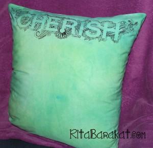 Cherish doodle pillow