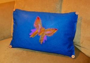 Lisa Fulmer Needlefelted pillow
