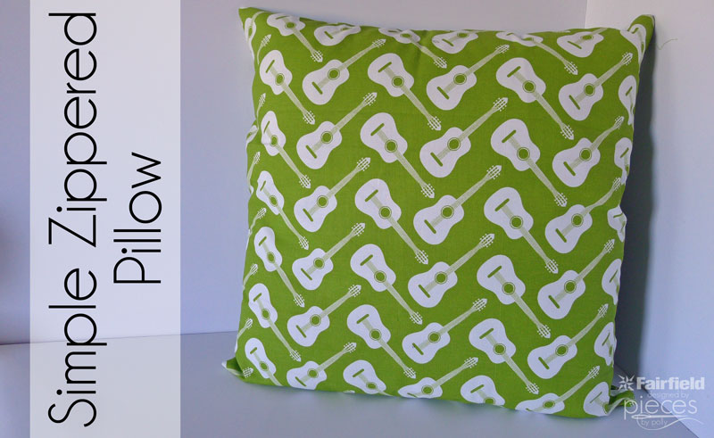 Simple Zippered Pillow Tutorial