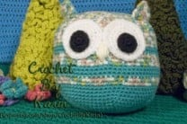 Crochet Teal Owl