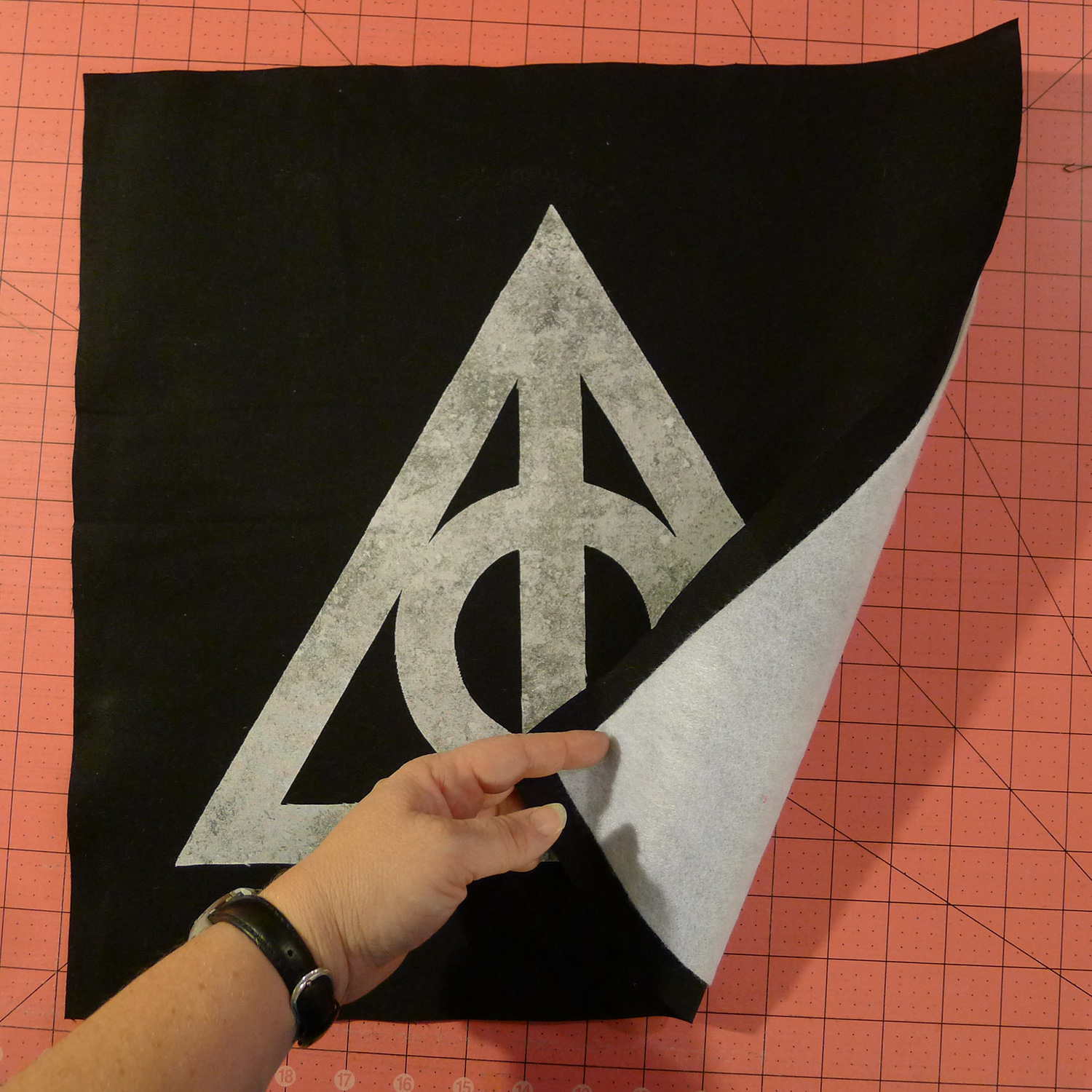 Harry Potter Deathly Hallows Pillow Fairfield World Craft Projects