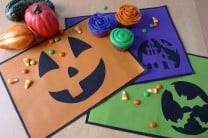 No-Sew Halloween Cut-Out Placemats