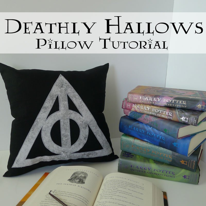 harry potter deathly hallows pillow tutorial fairfield. Black Bedroom Furniture Sets. Home Design Ideas