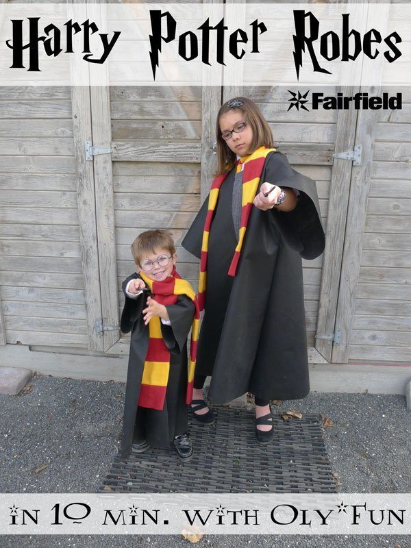 Easy Oly*Fun Harry Potter Costume w/ No-Sew Option - Fairfield World ...