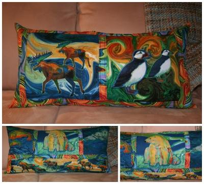 Alaskan Adventure Banded Pillow