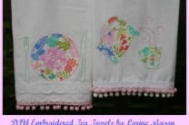 DIY Applique & Embroidered Tea Towels