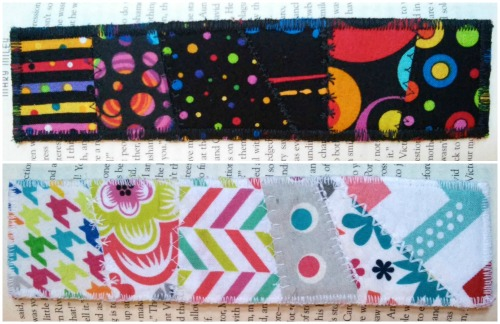 DIY Quilted Fabric Bookmarks 11