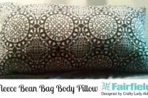 Fleece Bean Bag Body Pillow
