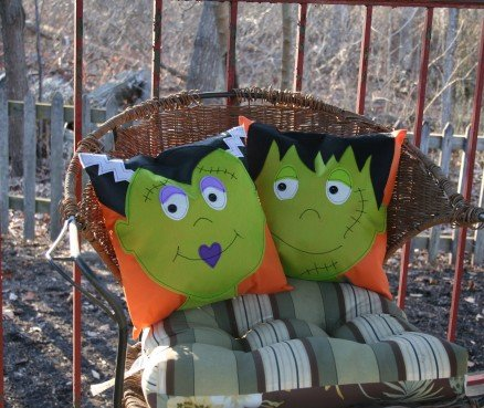 Frankenstein Duo Pillows