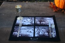 Halloween Windowscape Placemats