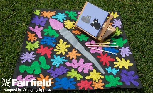 OlyFun Paint Splatter Play Mat