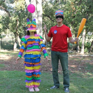 Pinata and boy costume
