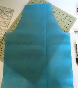 art apron main piece cut