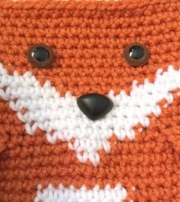 crochet fox face