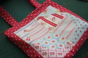 finished quilt block bag
